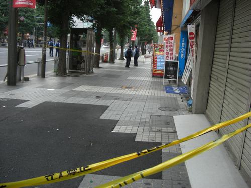 無差別殺傷事件が発生した当日の写真