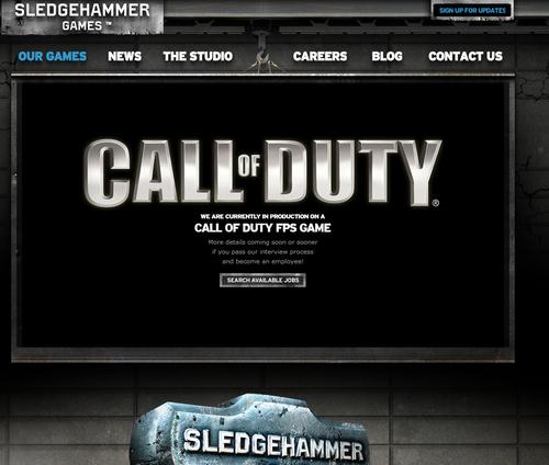 Sledgehammer Games社のサイト