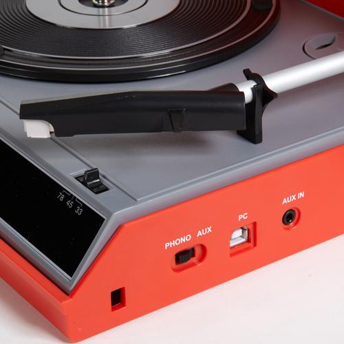 Crosley Spinnerette USBレコードプレーヤー 端子部