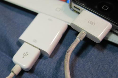 USBでiPhone4と接続