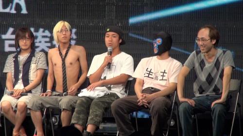 左から赤飯さん、今岡さん、十三さん、横山�さん、AD笠原さん