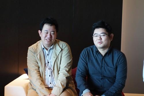 メディアスケープ江崎氏(左)と小山田氏(右)