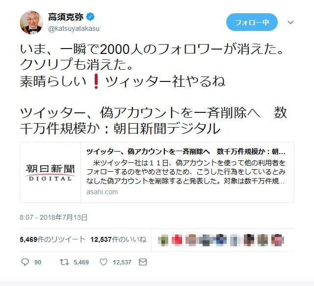高須 克弥 twitter 高須克弥氏 愛知県警の家宅捜索に疑念「僕に問い合わせがない」「選挙妨害を始めたな」