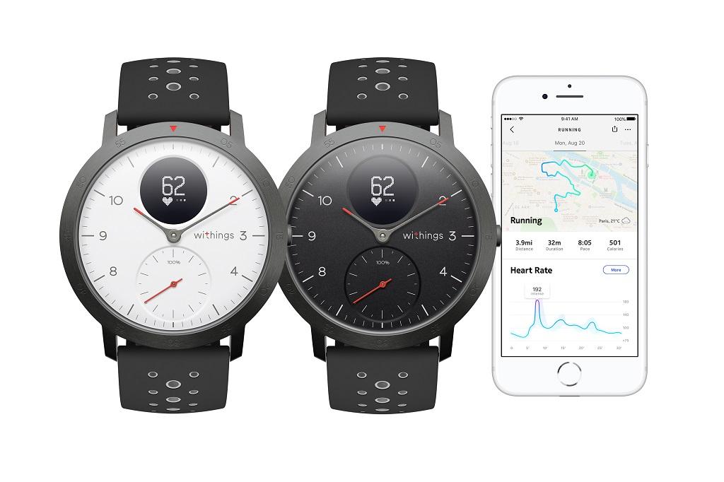 Nokia Healthから再びWithingsブランドへ アナログ腕時計型活動量計『Steel HR』にスポーツモデル発売