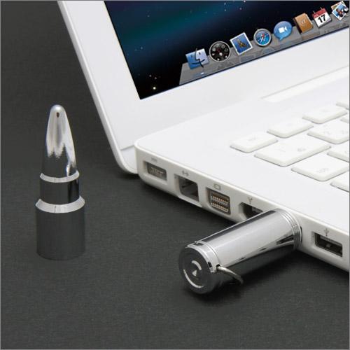 ライフル弾丸 USBメモリ シルバーブレット