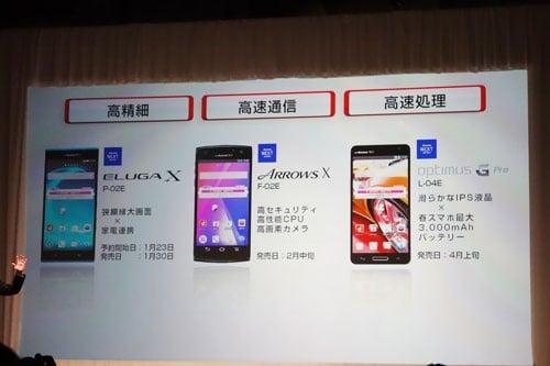 5インチフルHDの3機種を発表