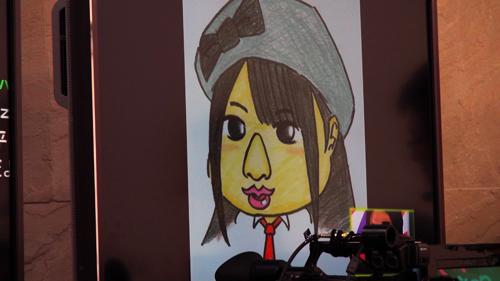 柳原さん作、石田さんの似顔絵