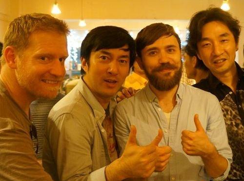 クレッグ氏と須田氏とクリス氏と山岡氏