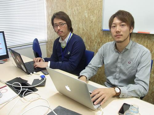 Grow!社のサイトウコウジ氏(左)とカズワタベ氏(右)