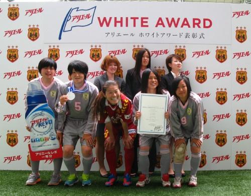 受賞選手と澤選手の記念撮影