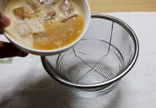 液体スープ ろ過