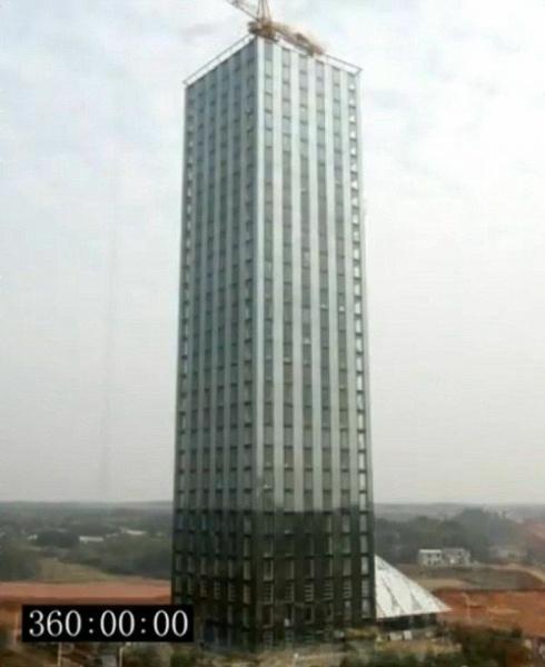 中国が30階建ての高層ビルを360時間(15日)で建設! M9 0にも耐えるアル   ガジェット通信 Getnews