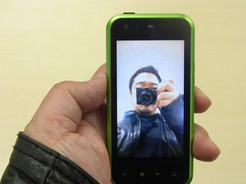 『ハンドミラー』アプリでインカメラの映像をチェック