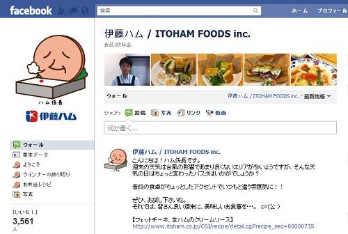 伊藤ハム『Facebookページ』