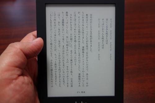 読みやすいE-Inkディスプレー