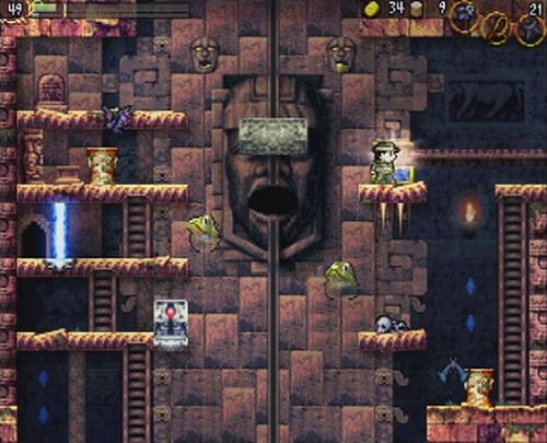 Wiiウェア版『LA-MULANA』スクリーンショット