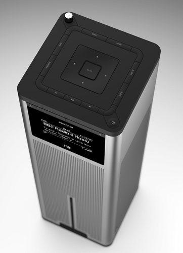 卓上型インターネットラジオプレーヤー『K2』上部