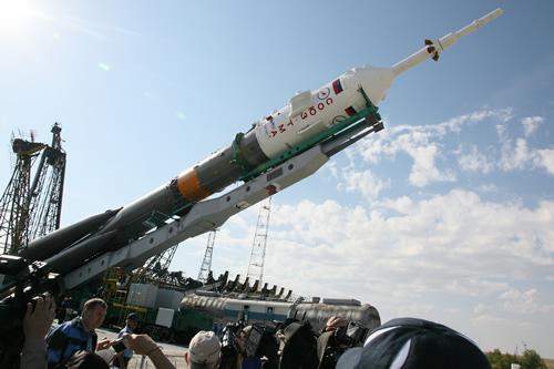 古川飛行士らが搭乗するソユーズ