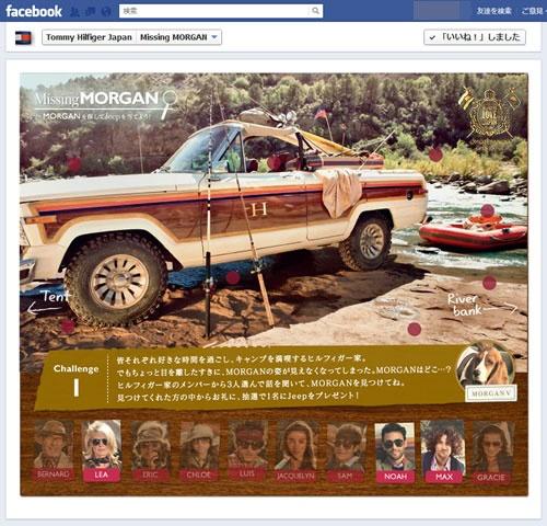 『Facebook』ページ上の『Missing MORGAN』キャンペーン