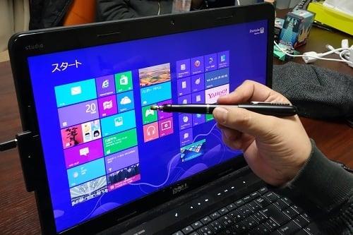 これは便利 タッチパネル非対応のノートパソコンをタッチ操作対応のWindows 8機にできるタッチペン『Touch8』製品レビュー