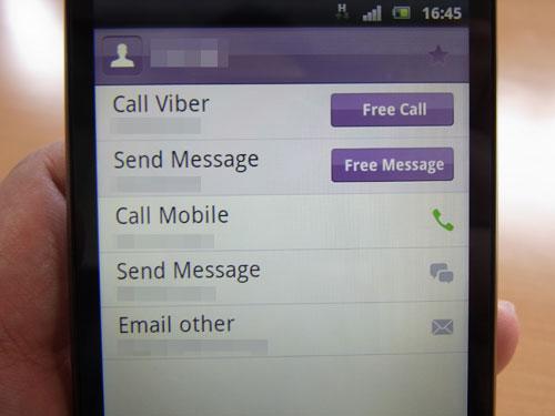 ユーザーを選んで電話をかけたりテキストメッセージを送信できる