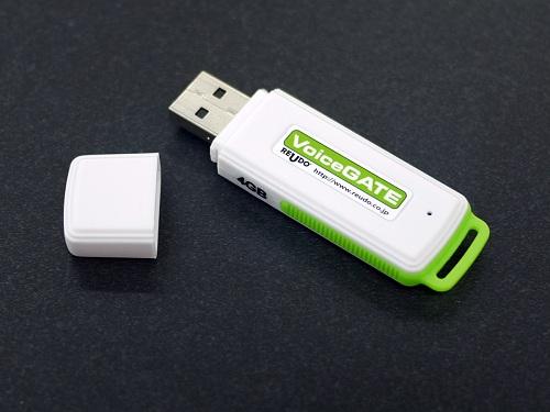 録音した音声メモを『Evernote』に即アップロード USBメモリー型のシンプルなボイスレコーダー『VoiceGATE』