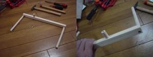 木材部品の組み立て